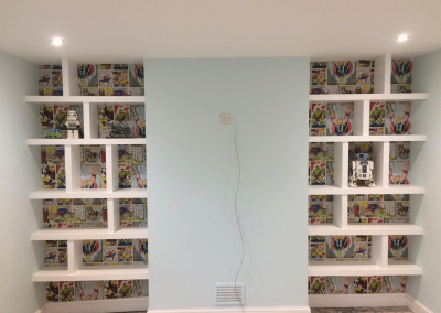 Alcove Cupboards & Shelving in Kids Room