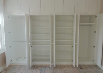Bespoke Fitted Wardrobe White Open Door