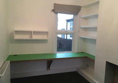 Laminate Birch Ply Desk And Shelving